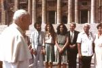 Papa João Paulo II, Lúcia Veríssimo, Gal, Dorival Caymmi, Guilherme Araujo e Nana Caymmi